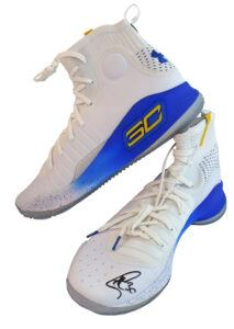 Warriors Stephen Curry Signed Under Armour Curry 4 Size 13 Shoes Fanatics COA